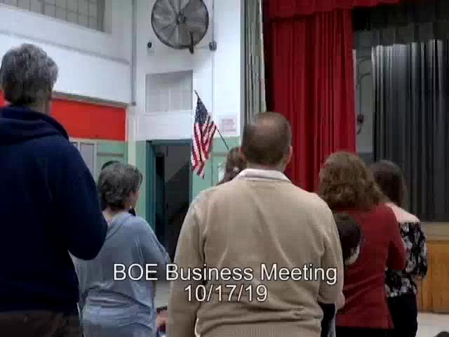 Board of Education Business Meeting October 17, 20...