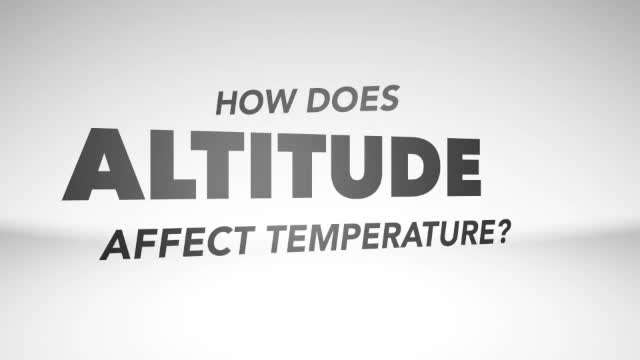 How does altitude affect temperature?