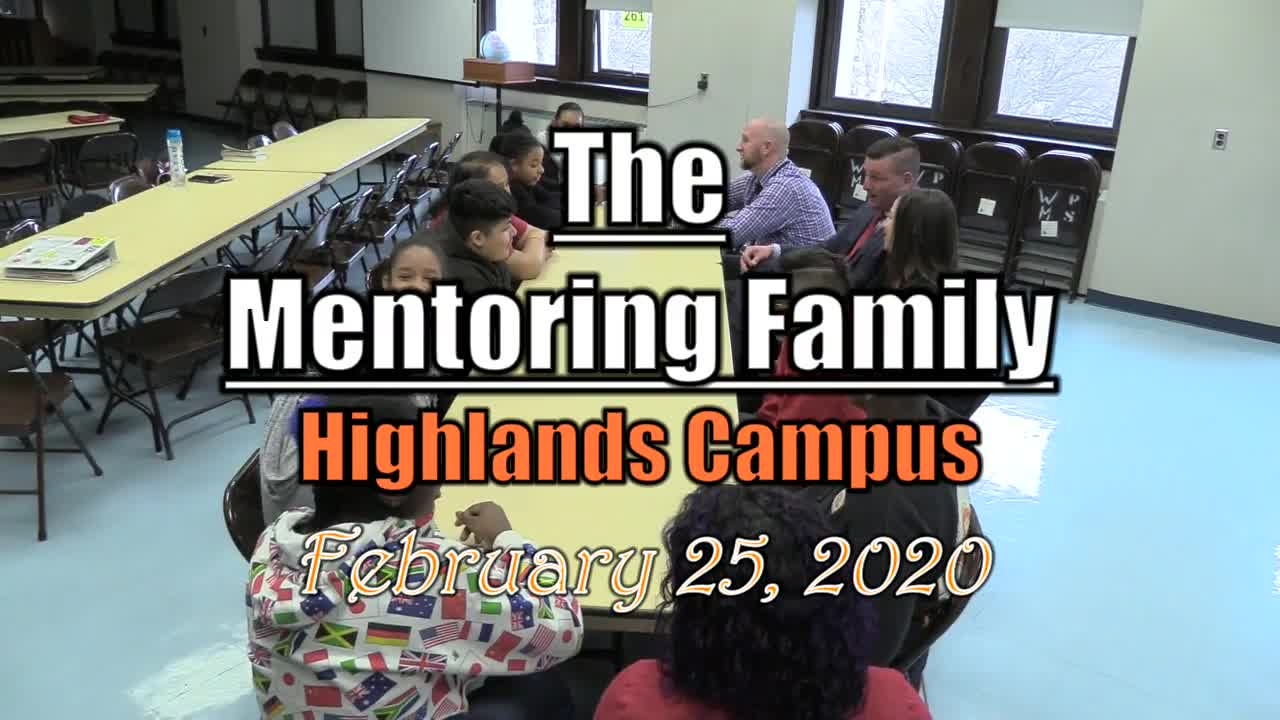 2020 The Mentoring Family - Highlands Campus