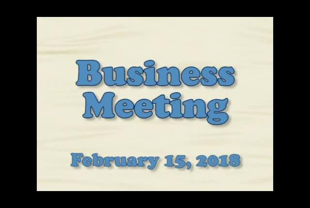 Board of Education Business Meeting February 15, 2...