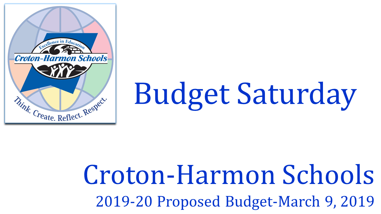 March 9, 2019 Budget Saturday CHUFSD