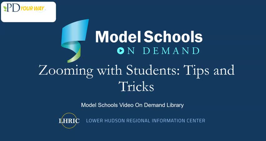Model Schools Zooming with Students Tips and Trick...