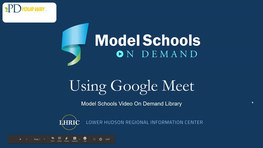 Model Schools Using Google Meet