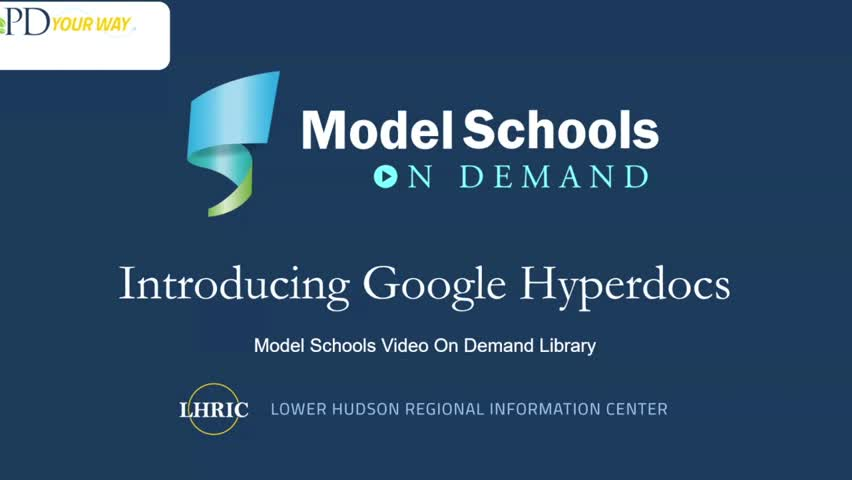 Model Schools Working with Google Hyperdocs