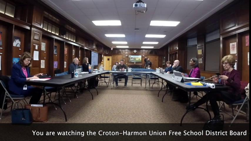 March 21, 2019 Board of Education Work Session CHU...