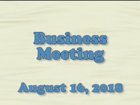 Board of Education Business Meeting August 16, 201...