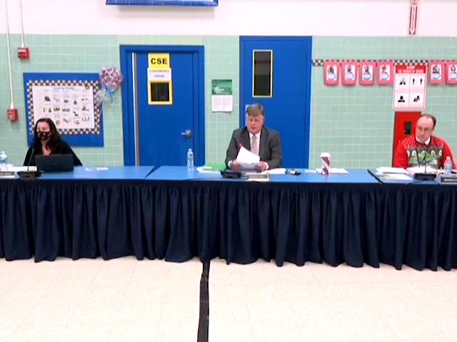 Board of Education Business Meeting December 10, 2...