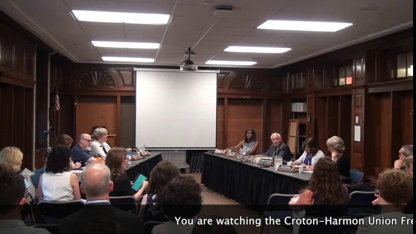 June 14, 2018 Board of Education Work Session