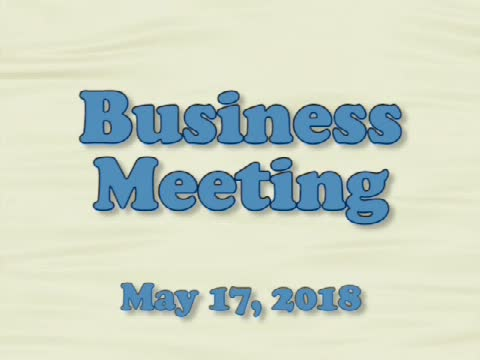 Board of Education Business Meeting May 17, 2018