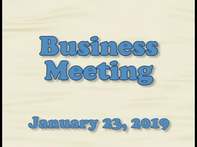 Board of Education Business Meeting January 23, 20...