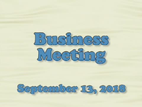 Board of Education Business Meeting September 13, ...