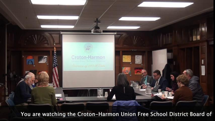 January 17, 2019 Board of Education Work Session C...